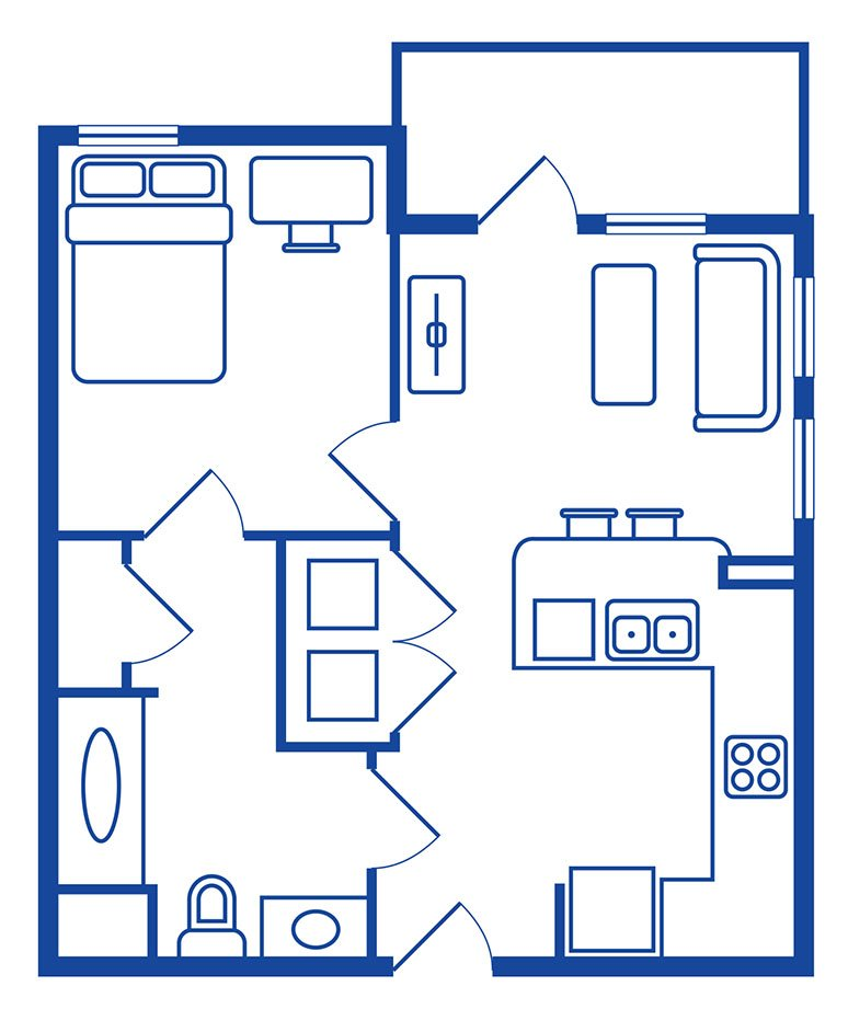 1 Bedroom, 1 Bath Apartments Near CSUF