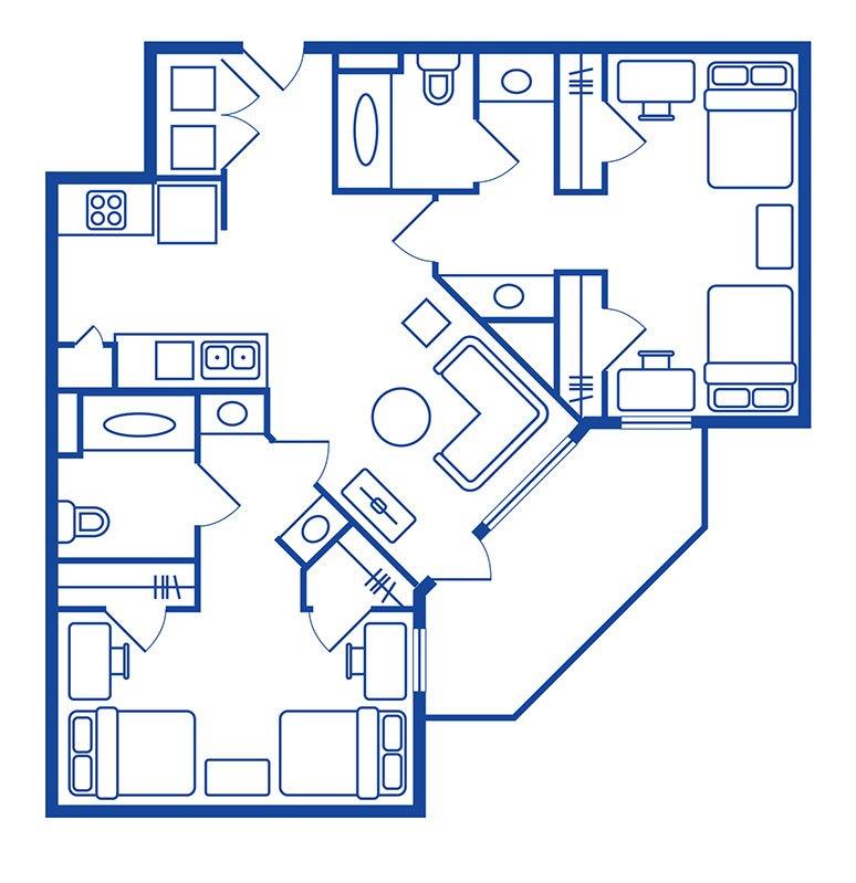 2 Bedroom, 2 Bath Apartments Near Cal State Fullerton