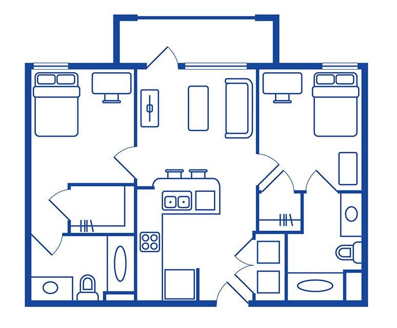 2 Bedroom, 2 Bath Apartments Near CSUF
