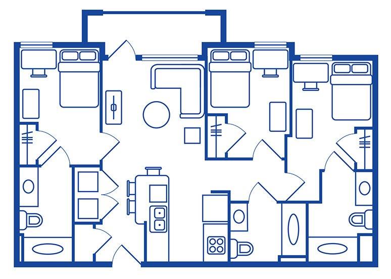 3 Bedroom, 3 Bath Apartments Near CSUF